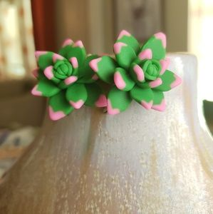 Adorable Succulent Earrings NWOT